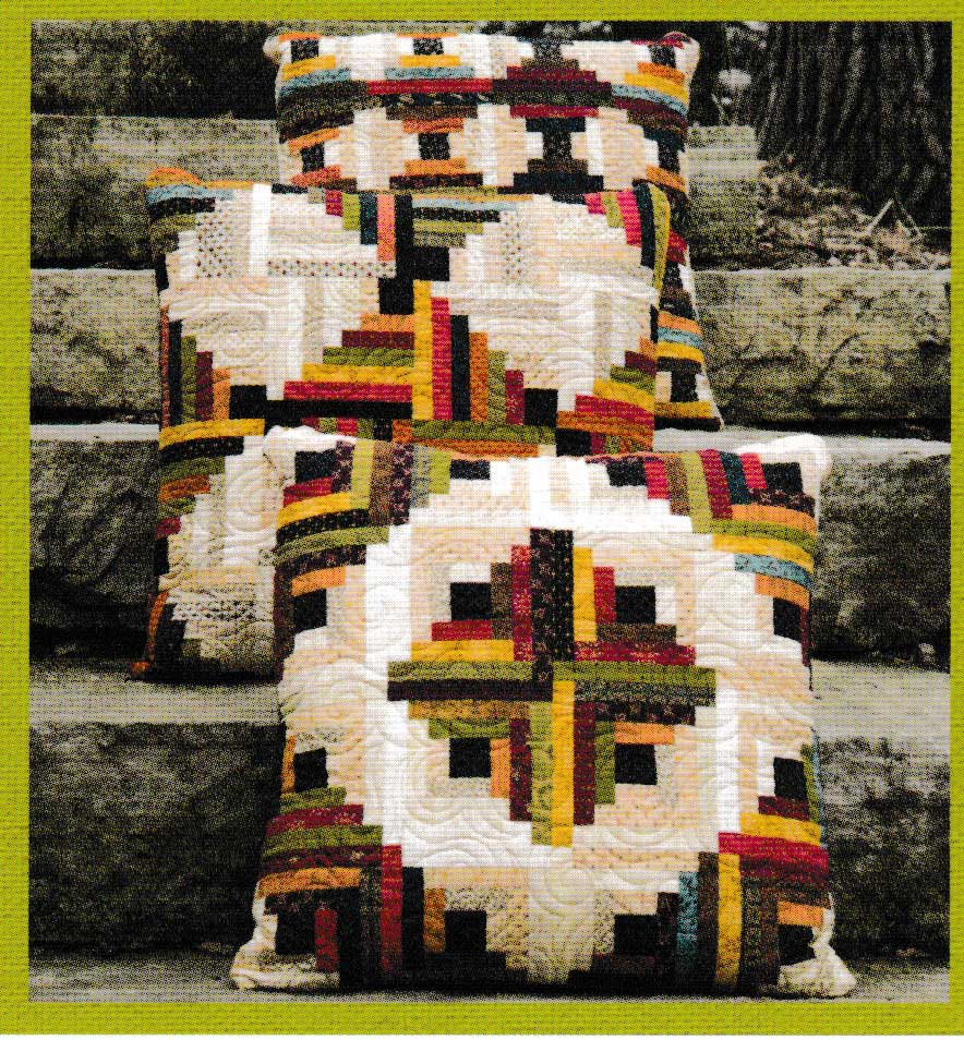 Learn how to make these Log Cabin Pillows