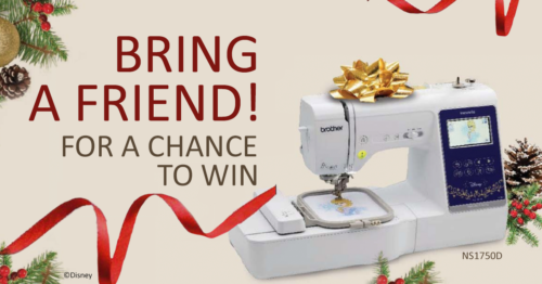 Want the chance to WIN a FREE embroidery machine?
