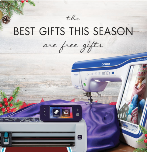 "Hurry!  Brother Sews ""Best Gifts are Free Gifts"" promotion ends December 24th."