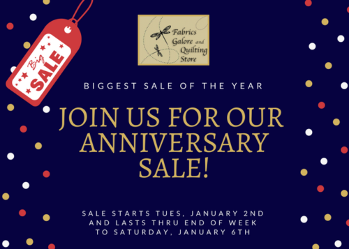 Don't Miss Our Biggest Sale of the Year! Now through Saturday, Jan 6th