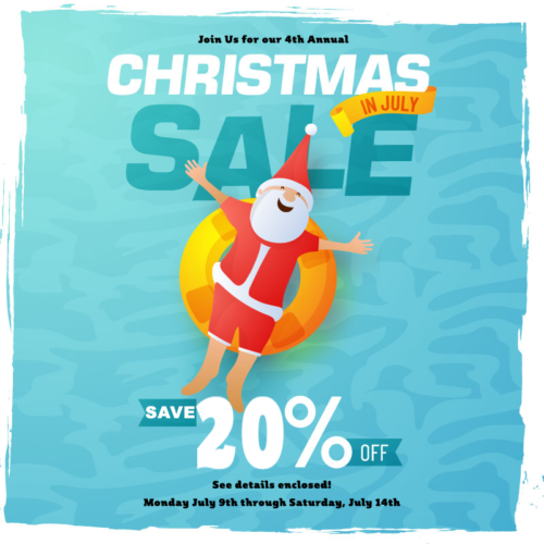"Get Ready For Fabrics Galore & Quilting Store's  4th Annual ""Christmas In July"" Storewide Sale!"